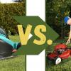 Elektrische grasmaaier vs. Benzine grasmaaier